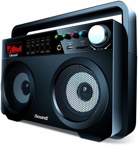 speaker corneta isound bt-5000  bluetooth boombox original