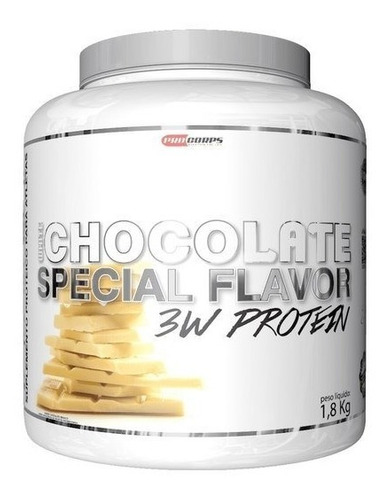special flavor 3w protein chocolate branco 1.8kg procorps