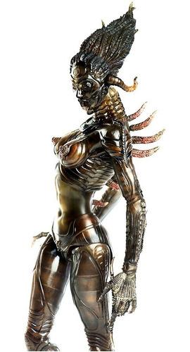 species sil figura 1/6 alien threezero - robot negro