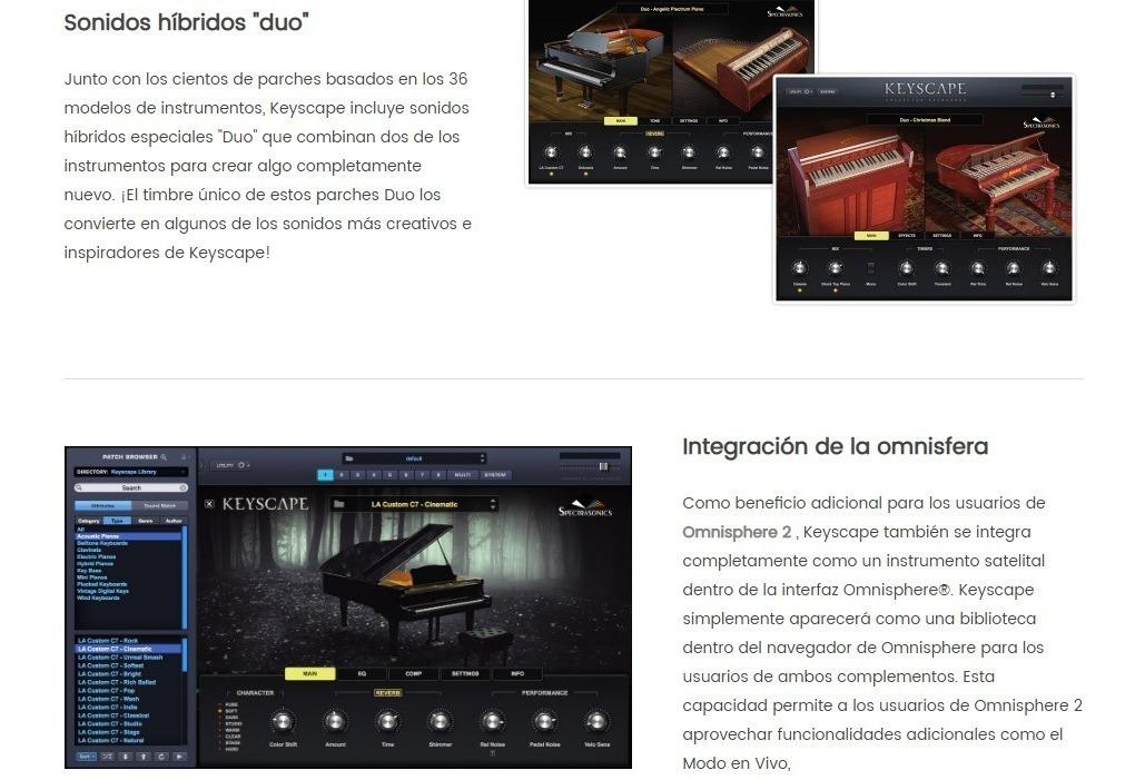 Spectrasonic Omnisphere 2 + Keyscape Windows Son 29 Dvds - $ 750,00