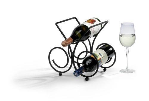 spectrum diversified burdeos botellero, 3-botella, negro