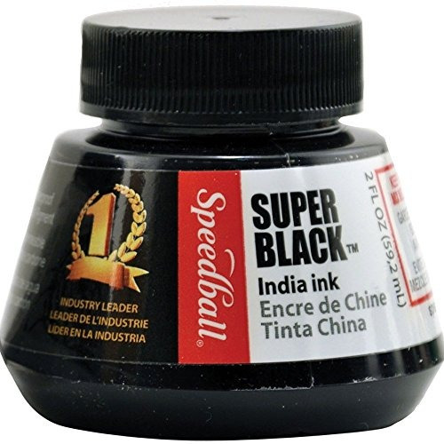speedball 2 onza tinta china, negro super- envío gratis