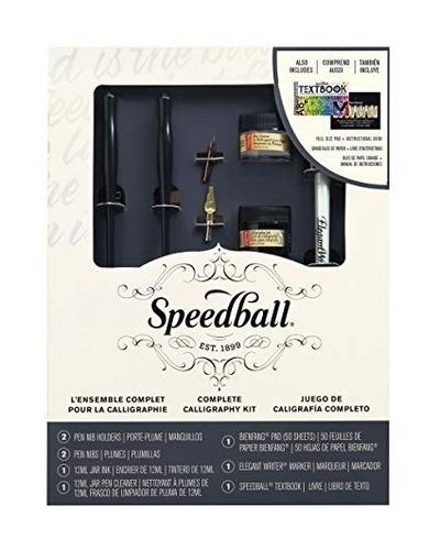 speedball set completo de caligrafìa pluma tinta 9 piezas