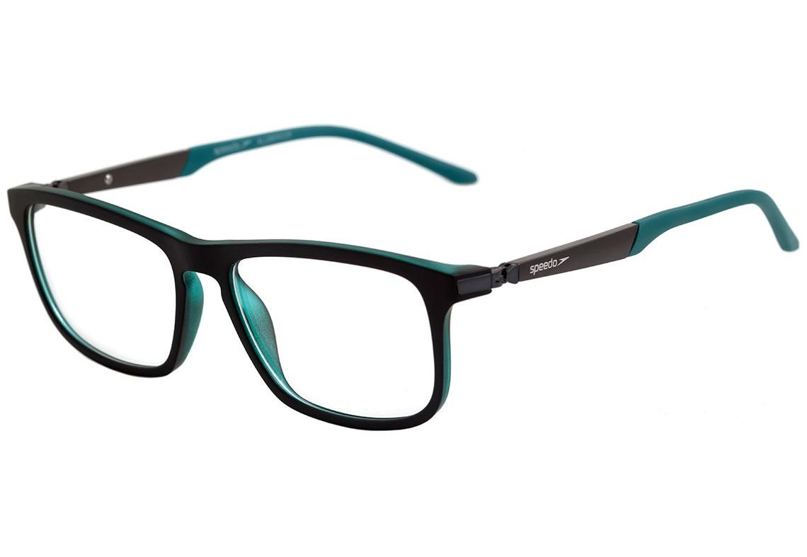 a49c301bcee0c Speedo Sp 4046 - Óculos De Grau A02 Preto E Verde Fosco - - R  329 ...