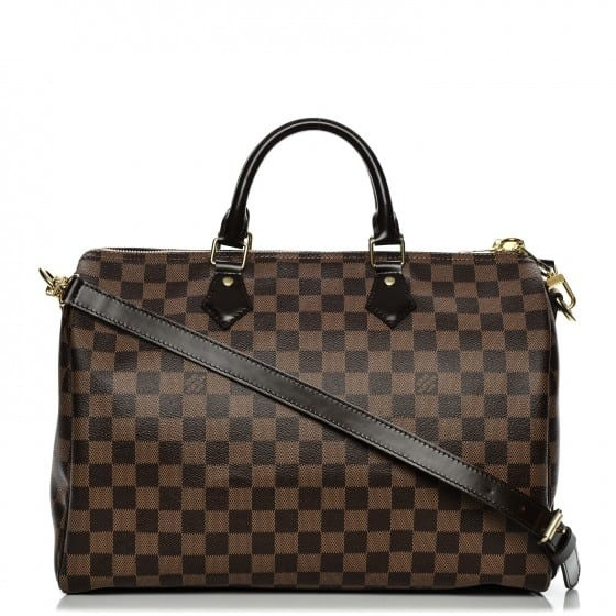 8817a402b Speedy 35 Louis Vuitton Ebene Premium Couro C/ Código - R$ 1.390,00 ...