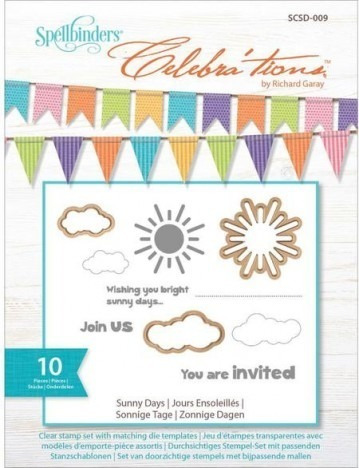 spellbinders celebrations dies with stamps - sunny days