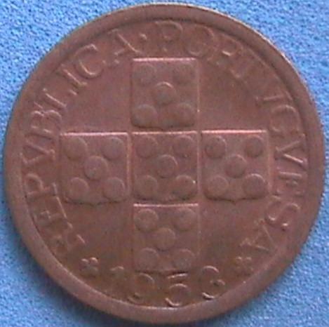 spg portugal 10 centavos 1953.