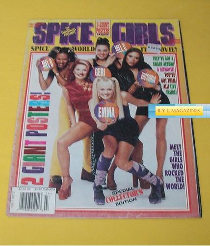 spice girls revista poster 1997 fold out reviposter de usa