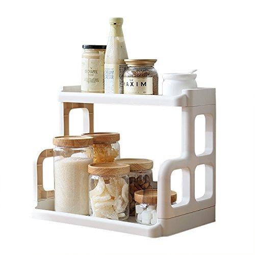 spice rack2tier plastic countertop storage shelves organizer