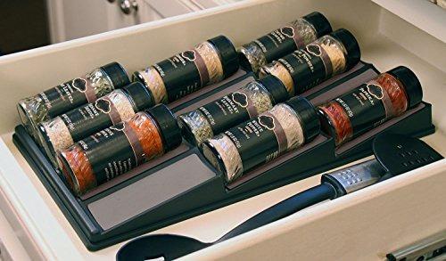 spicedock - almacenamiento de botellas de especias en cajón