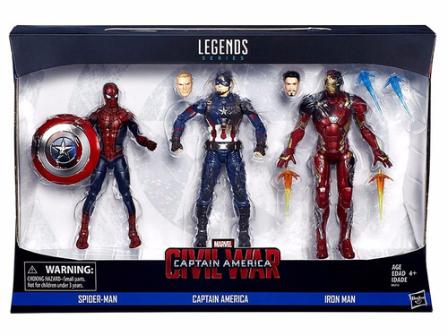 spider-man capitan america pack civil war marvel legends