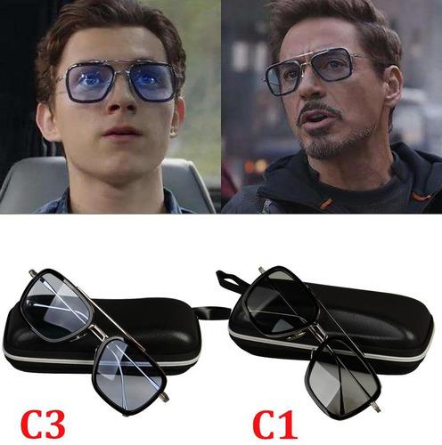 spider-man gafas edith iron man gafas de sol superhéroe prop
