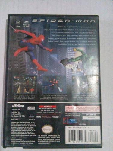 spider man gamecube nintendo trqs game cube gc spiderman