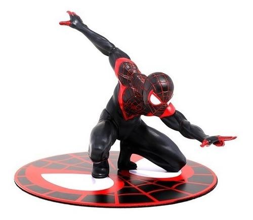 spider-man miles morales artfx+ - kotobukiya - robot negro