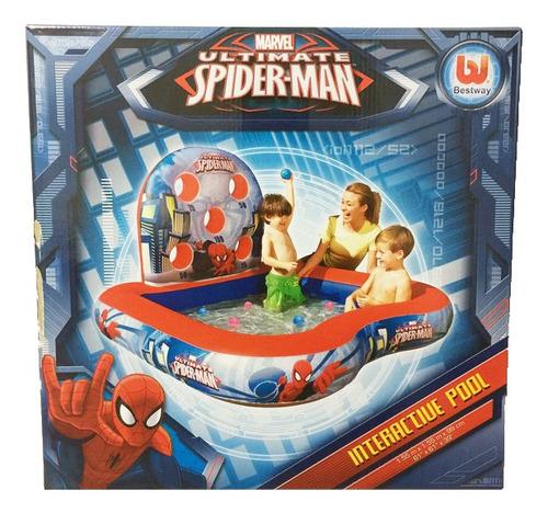 spider man pileta inflable 155 x 99cm original 98016 bigshop