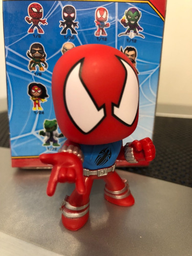 spider-man scarlet spider mystery minis funko bobble head