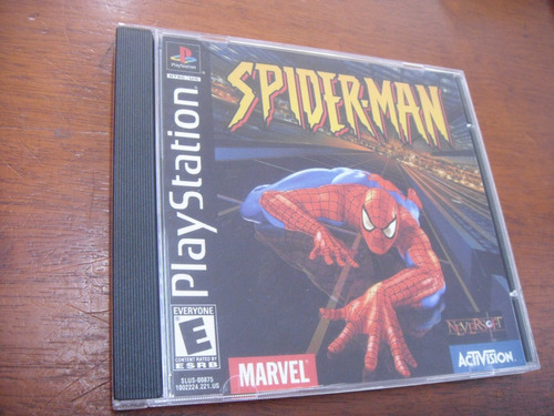 spider-man slus 00875 ps1 playstation ps1