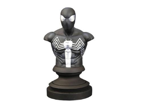 spider-man symbiote spider-man bust