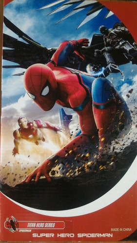 spiderman artículado 30cm luz y sonido! envios