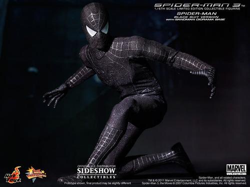 spiderman black homem aranha hot toys peter parker avengers