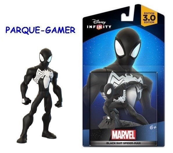 spiderman black negro 2.0 / 3.0 disney infinity ¡preg stock