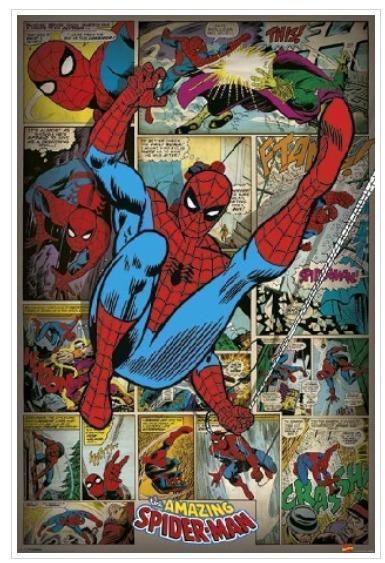 Spiderman Comic Retro Vintage Poster 61x91 Importado Origina