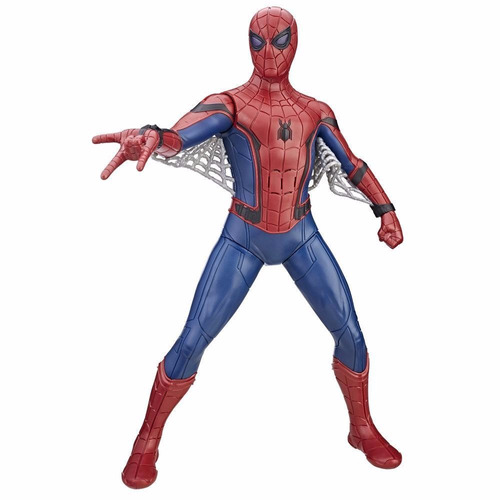 spiderman de hasbro con traje avanzado 40 frases y sonidos