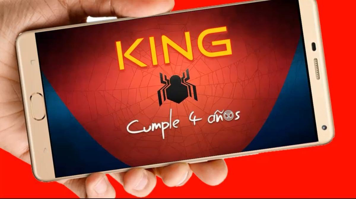 Spiderman Disney Vídeo Tarjeta Invitación Digital Cumpleaños