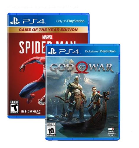 spiderman goty + god of war playstation 4