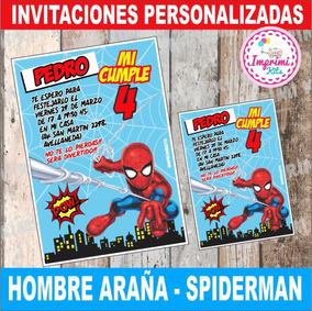 Spiderman Hombre Araña Diseño De Invitación Para Imprimir
