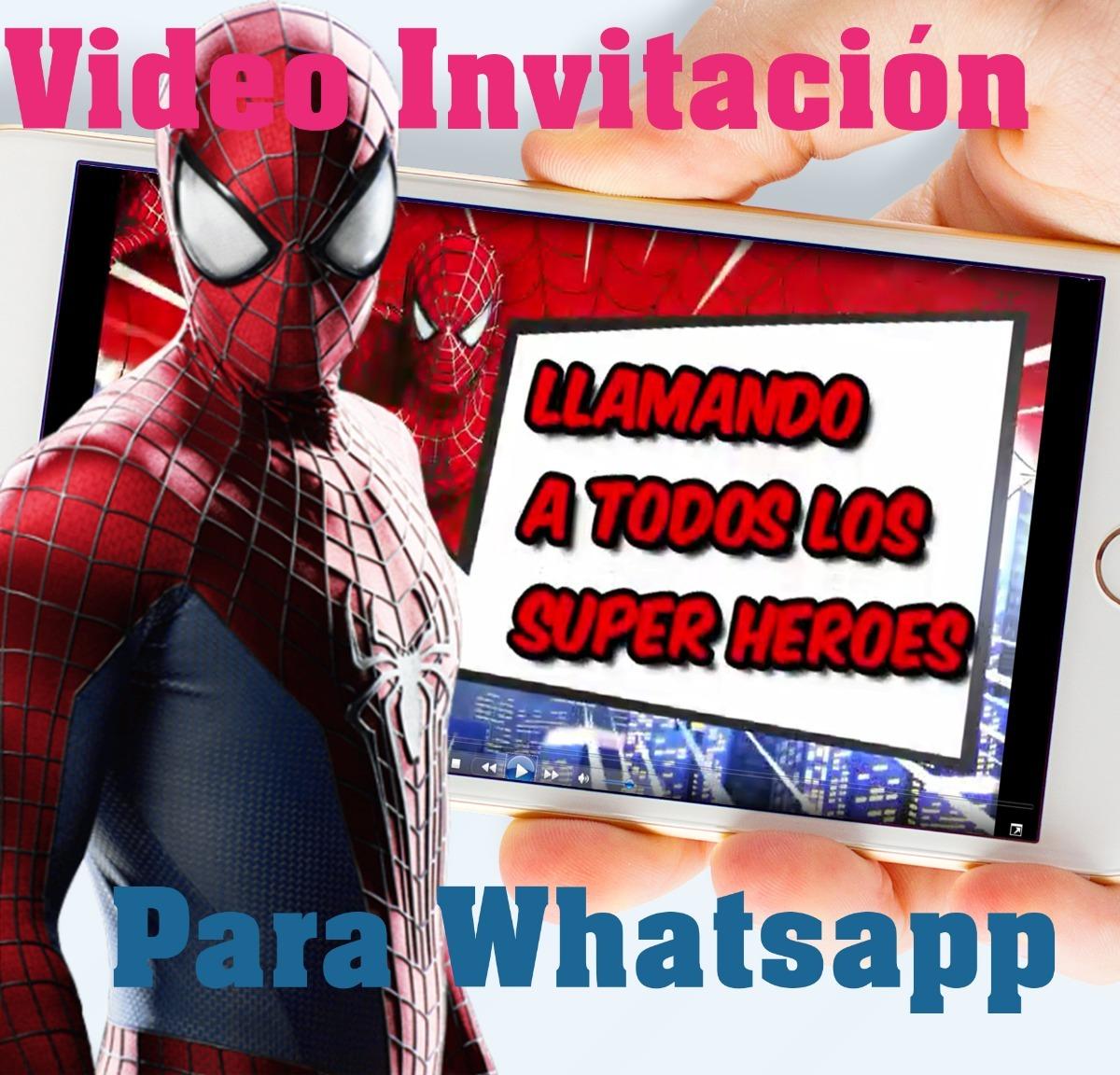 Spiderman Hombre Araña Tarjeta Invitación Digital Vídeo