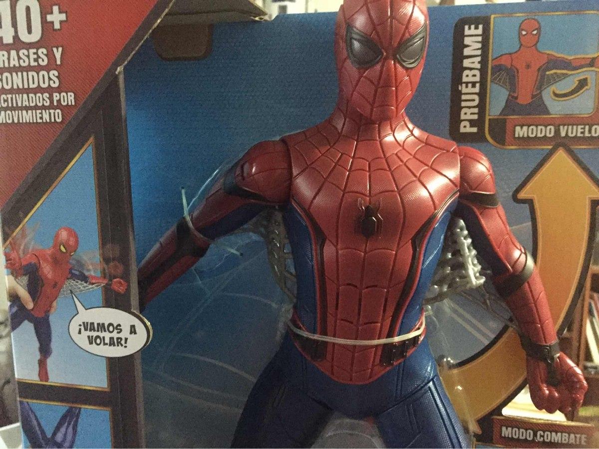 Spiderman Hombre Araña Traje Avanzado 40 Frases 38 Cm1