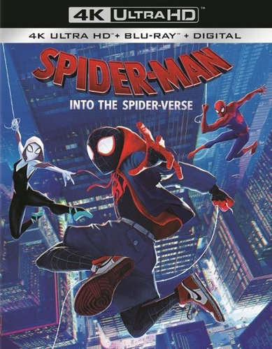 spiderman into the spiderverse 4k + blu-ray + digital hd