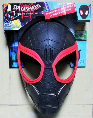 spiderman into the spiderverse máscara electrónica miles mor