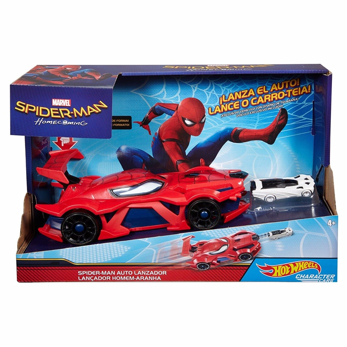 Autos Lcfkj1 Araña Hombre Hot De Wheels Juguetes Spiderman Lanzador S 5R4AjL