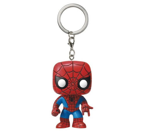 spiderman marvel pop pocket keychain llavero