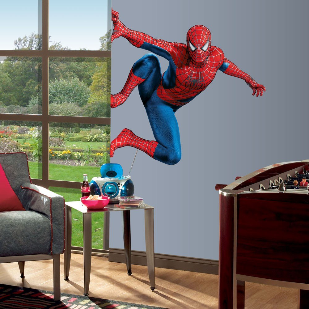 Spiderman stickers adhesivos gigantes en for Adhesivos pared dormitorio
