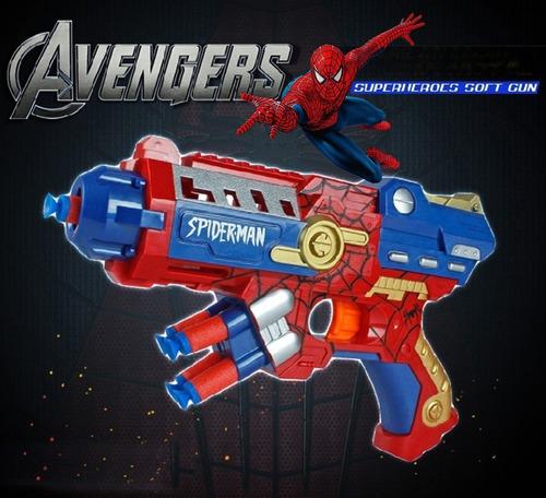spiderman tipo nerf blaster avengers + yoyo promoción ahoraa