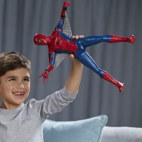 spiderman traje avanzado,39cm español+40 frases+envio gratis