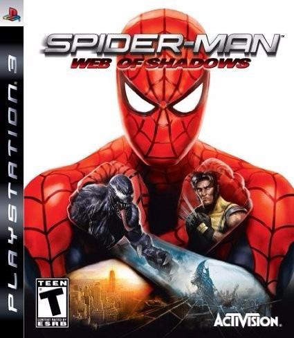 spiderman web of shadows ps3 original físico en disco marvel