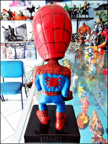 spiderman,boble-head,marca funko,loose,cabezon de 17 cm.