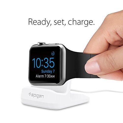 spigen s350 apple watch stand con el modo night stand para a