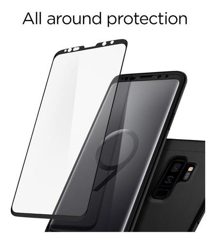 spigen samsung s9 plus thin fit 360 black + vidrio templado