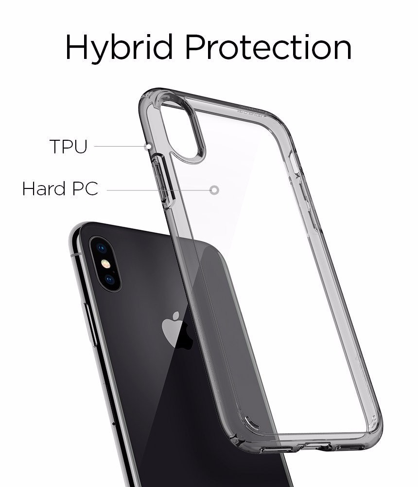 online store ddfb0 39799 Spigen Ultra Hybrid Capa iPhone X Air Cushion Space Crystal