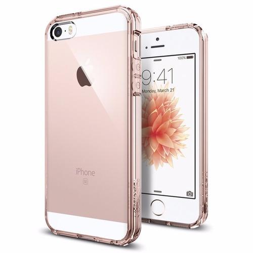 spigen ultra hybrid rosado margen para iphone se