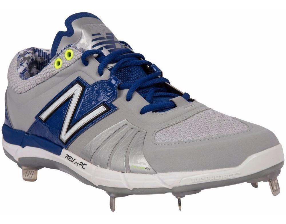 new balance grises con azul