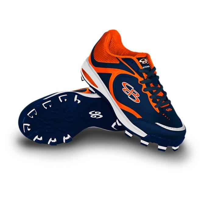 e7b6cf779ebc Spikes De Softball Boombah 9mx Azul Marino Con Naranja - $ 950.00 en ...