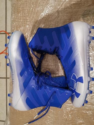 spikes under armour highlight mc blanco azul 7mx