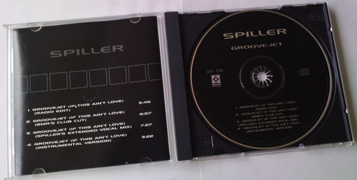 spiller groovejet cd single musart año 2000 c/4 versiones