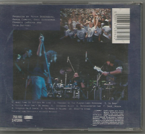 spin doctors - homebelly groove live - cd usado